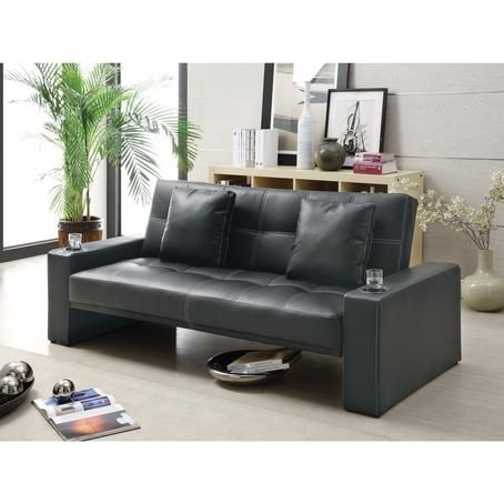 Coaster Coaster Contemporary Styled Sofa Bed with Casual Furniture Style, Black