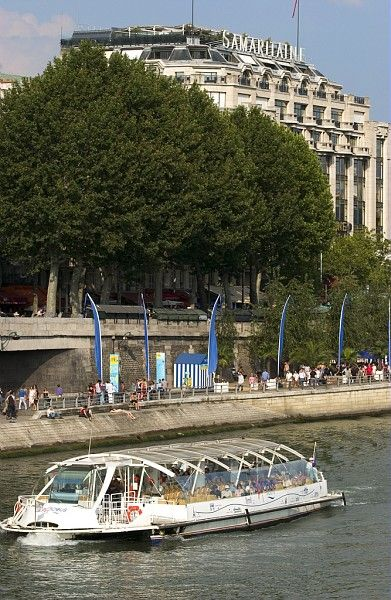 The Batobus, the bus boat uses the fluid traffic on the Seine to bring you where you want in no time. A nice way to see the city and not limited to tourists