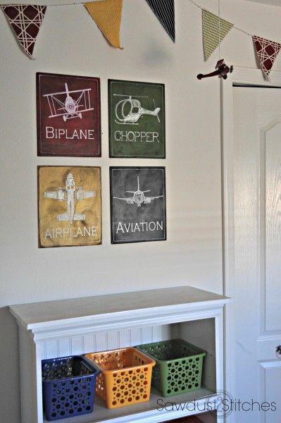 Airplane Room Wall Decor  Sawdust2stitches.com