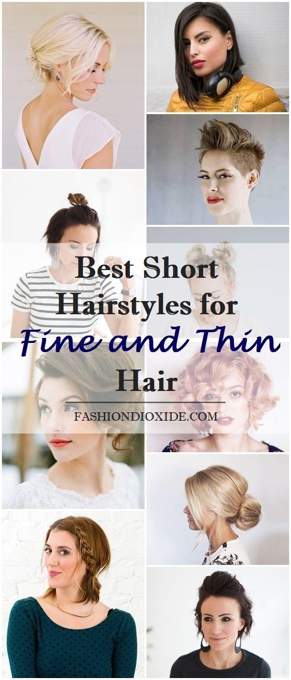 9 Beste Kurzhaarfrisuren für feines und dünnes Haar  Coole