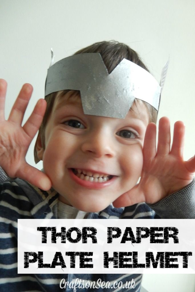 This Thor helmet DIY is super simple and loads of fun for kids and adults! Plus it's super thrifty kids craft to make using paper plates!