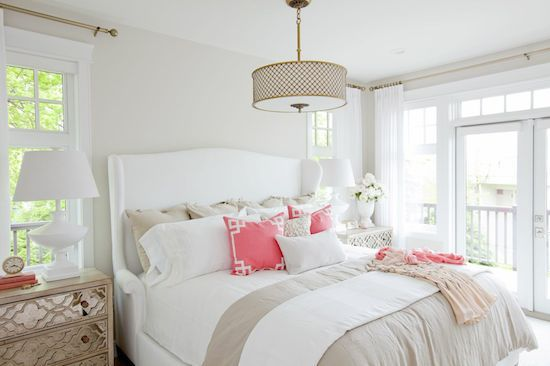 Such a lovely room. The decor is pretty and fresh looking - very appealing.