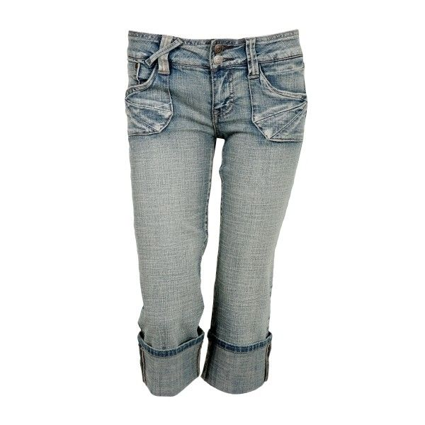 Hydraulic Cropped Jeans (46 CAD) ❤ liked on Polyvore featuring jeans, pants, bottoms, capris, shorts, denim jeans, hydraulic jeans, black capris, capri jeans y black zipper jeans