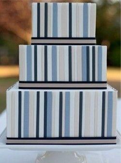 Blue striped cake Keywords: #weddingcakes #jevelweddingplanning Follow Us: www.jevelweddingplanning.com www.facebook.com/jevelweddingplanning/