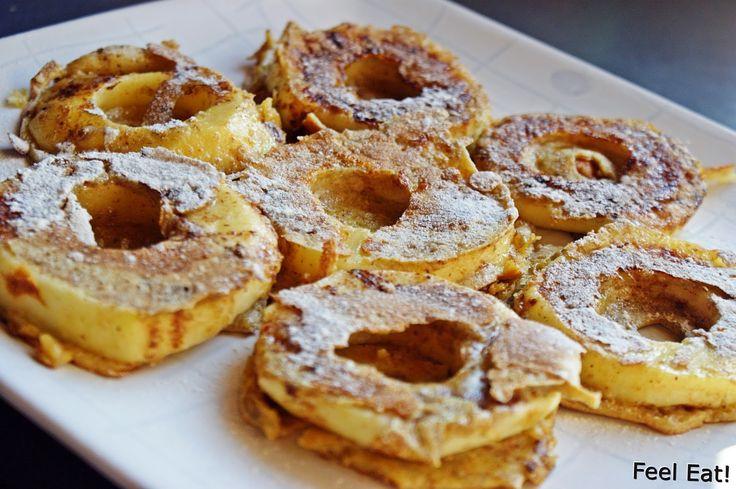 Feel Eat!: Dietetyczne śniadanie- jabłka w pełnoziarnistym cieście :)