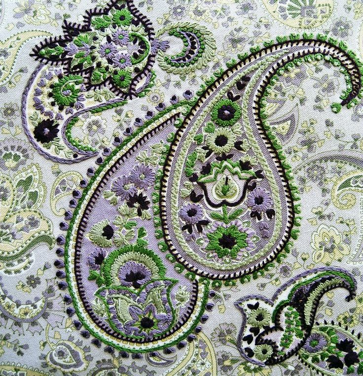 Paisley, made by hand. Inspiration. no instruction @Anna Totten Totten Totten Halliwell Boyd Fontaine Collection