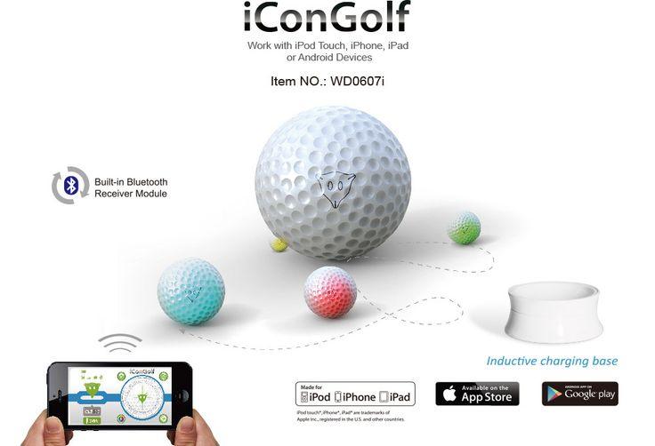 Pelota de Golf interactiva Woddon iConGolf-WD0607i. Teledirigida por dispositivos iOS y Android