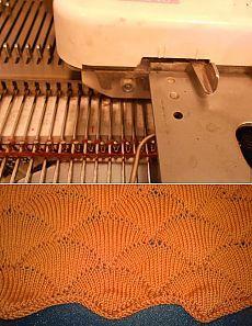 Чешуя на вязальной машине (частичное вязание) - Ярмарка Мастеров - ручная работа, handmade