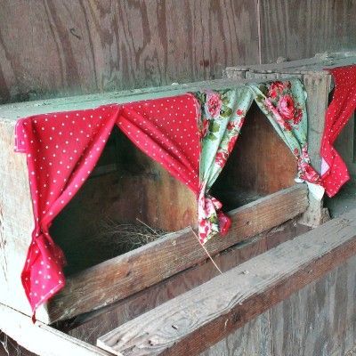 The Homestead Survival | Chicken Nesting Box Curtains Project | Chickens - Homesteading - http://thehomesteadsurvival.com