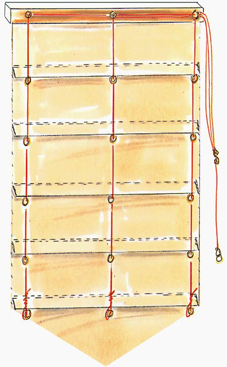 """Stores bateau avec pointe du blog de """"Anne-les-petites-croix"""""""