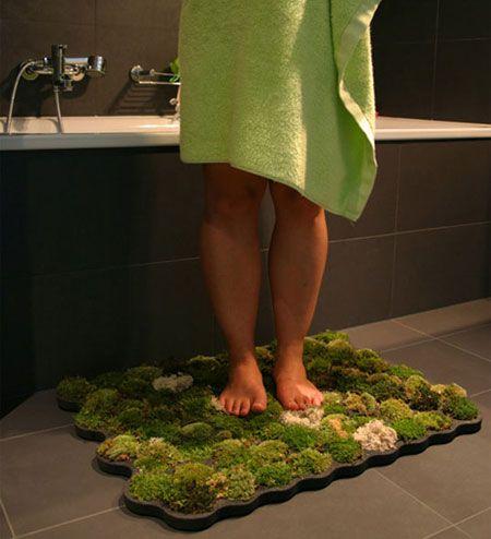 How to Make a Moss Shower Mat