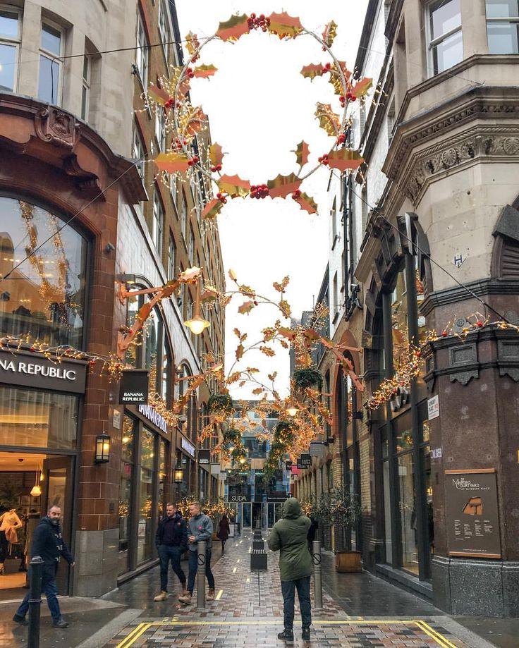 Christmas lights in Covent Garden, London