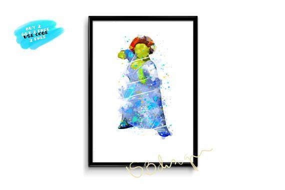 Shrek Fiona Poster Princess Fiona Watercolor Ogre Fiona