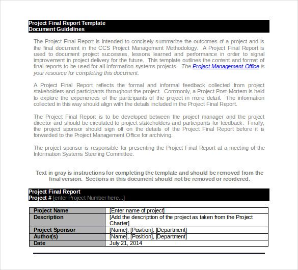 project final report template,project report template