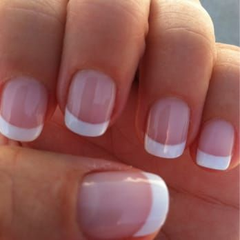 A perfect job! Gel French manicure by Tu. She always does a great job. - Yelp