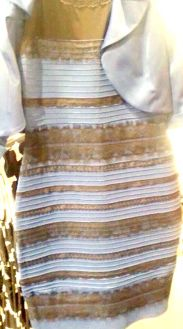 Blue and gold dress test