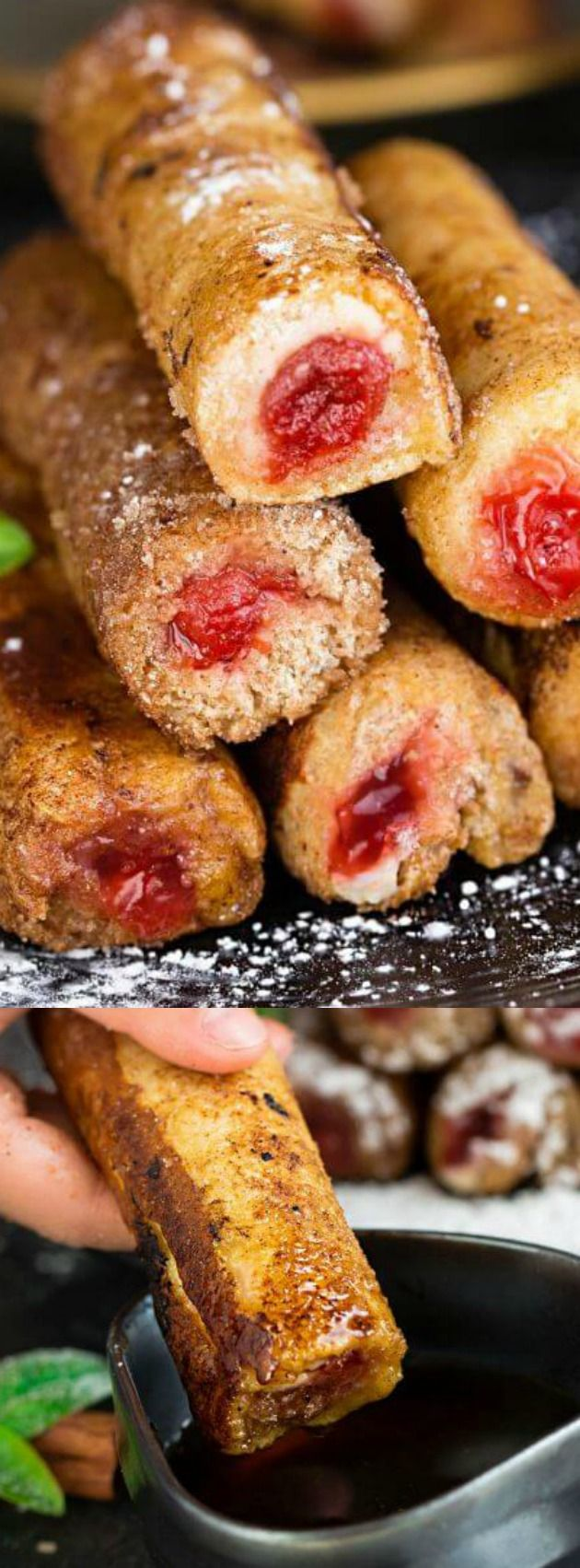 These Cherry Cheesecake French Toast Roll Ups from Life Made Sweeter puts a delicious spin on traditional french toast roll ups. The cherry cheesecake filling with a fluffy cinnamon sugar coated outside makes for the perfect breakfast or brunch snack that anyone will just love!