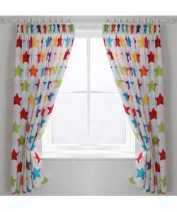 ColourMatch Kids' Unlined Star Curtains - 168 x 137cm.