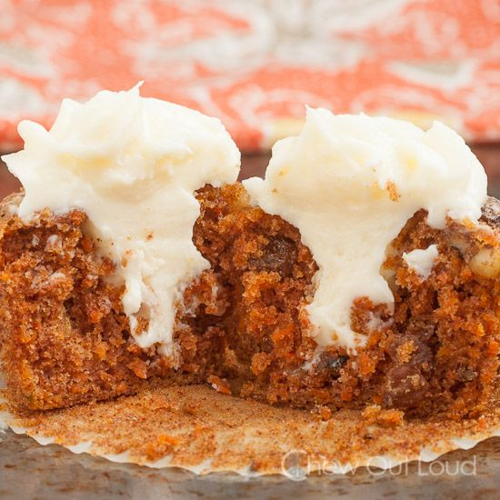 Carrot Cake Cupcakes with Cream Cheese Frosting | Recipe
