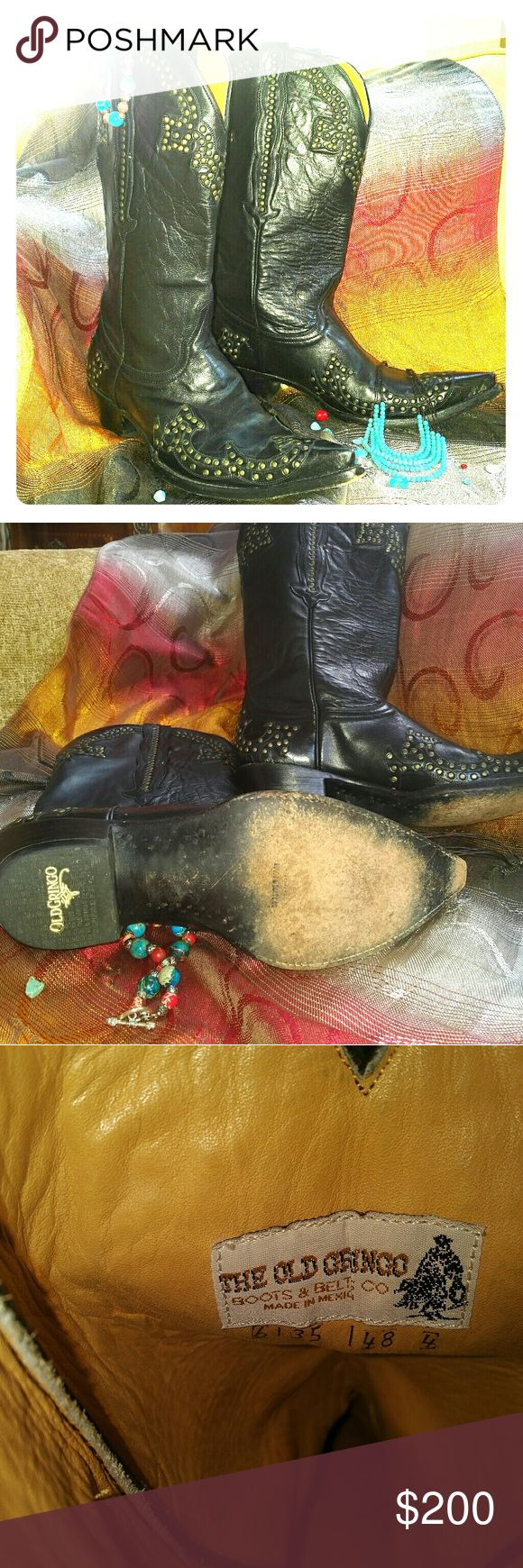 Old Gringo Boots CHICA! Gorgeous Old Gringo Black Studded Boots! gently worn and in beautiful condition! Old Gringo Shoes Heeled Boots