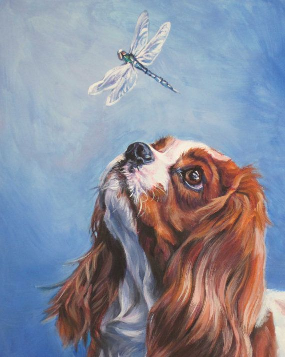 Blenheim Cavalier King Charles Spaniel in Art - Canvas