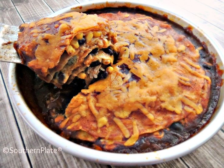 Chicken Enchilada Pie ~Bags To Dishes Meals~  Never wonder what's for supper again!