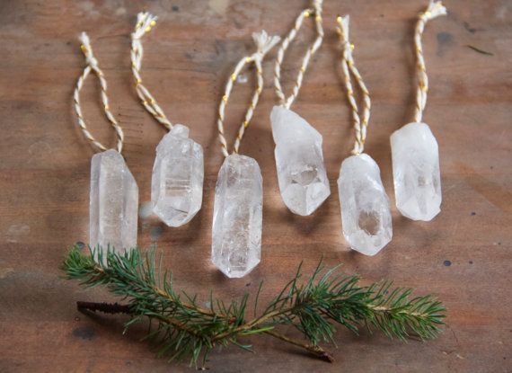 Bohemian Christmas Quartz Crystal Ornaments by MesaBlue on Etsy