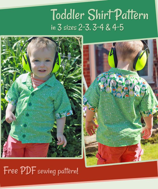 Western style toddler boys shirt sewing pattern