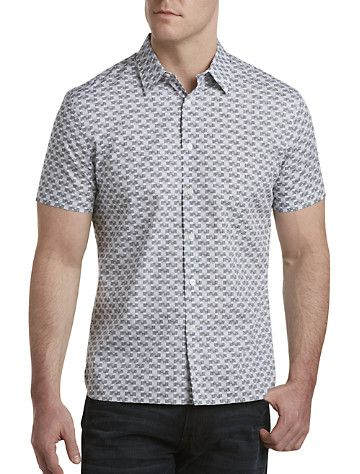 Perry Ellis® Geometric Print Sport Shirt