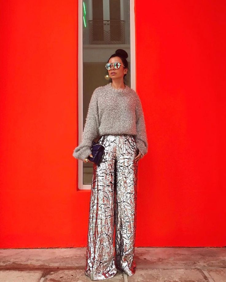 Metallic Delpozo Pants