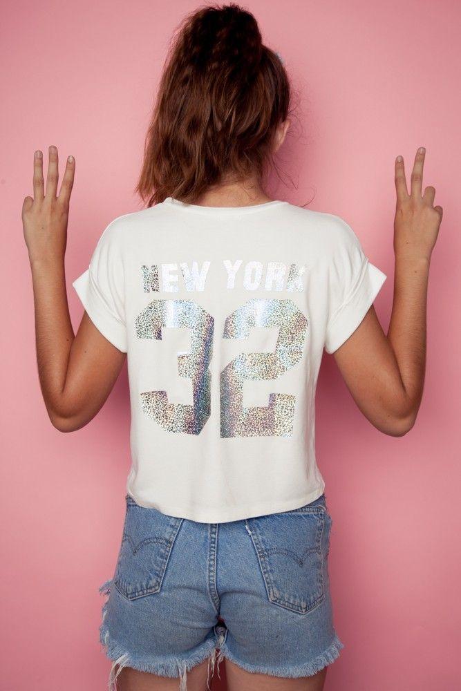 Brandy ♥ Melville | Caleigh New York 32 Top - Graphics