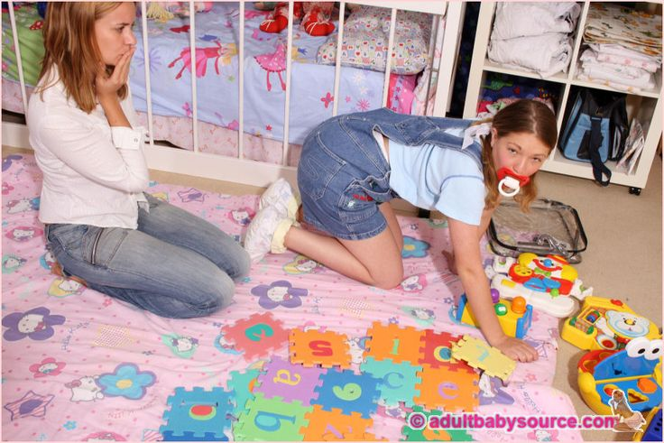 Two girls in pacifiers playing with themselves 9