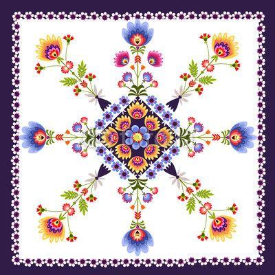 Zdjęcie Kwiatowy wzór ludowy | Fototapety | Dekoracje Na Wymiar