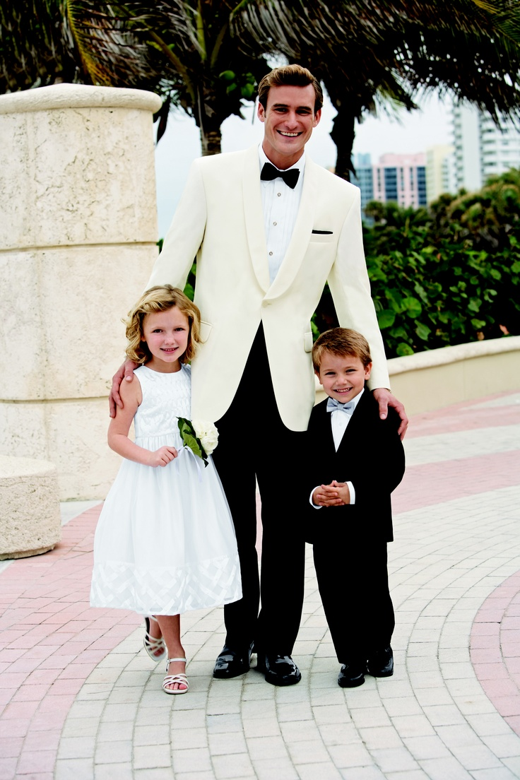 Tuxedo Jackets available in white and black.