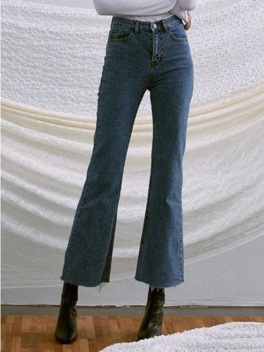 3a26c2c242 Iuw258 Slim Boots-Cut Denim Pants Light Blue in 2019