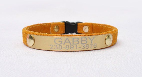 Pin for Later: 10 of the Sweetest Cat Collars From Etsy Personalized Cat Collar You can add up to two lines of identification to this suede collar ($18). No need for additional tags if your kitty has this collar!
