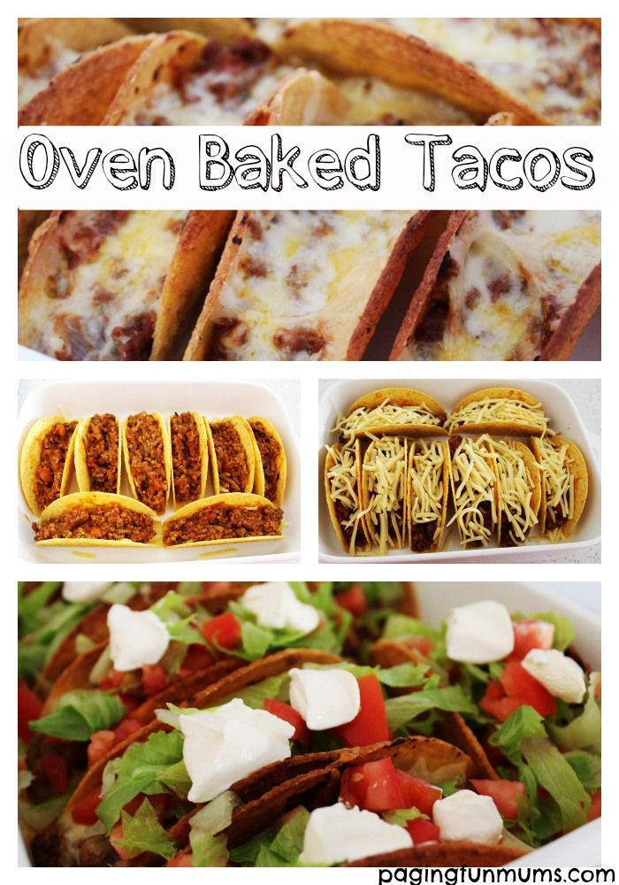 Oven Baked Tacos..you'll never make them the old way again!