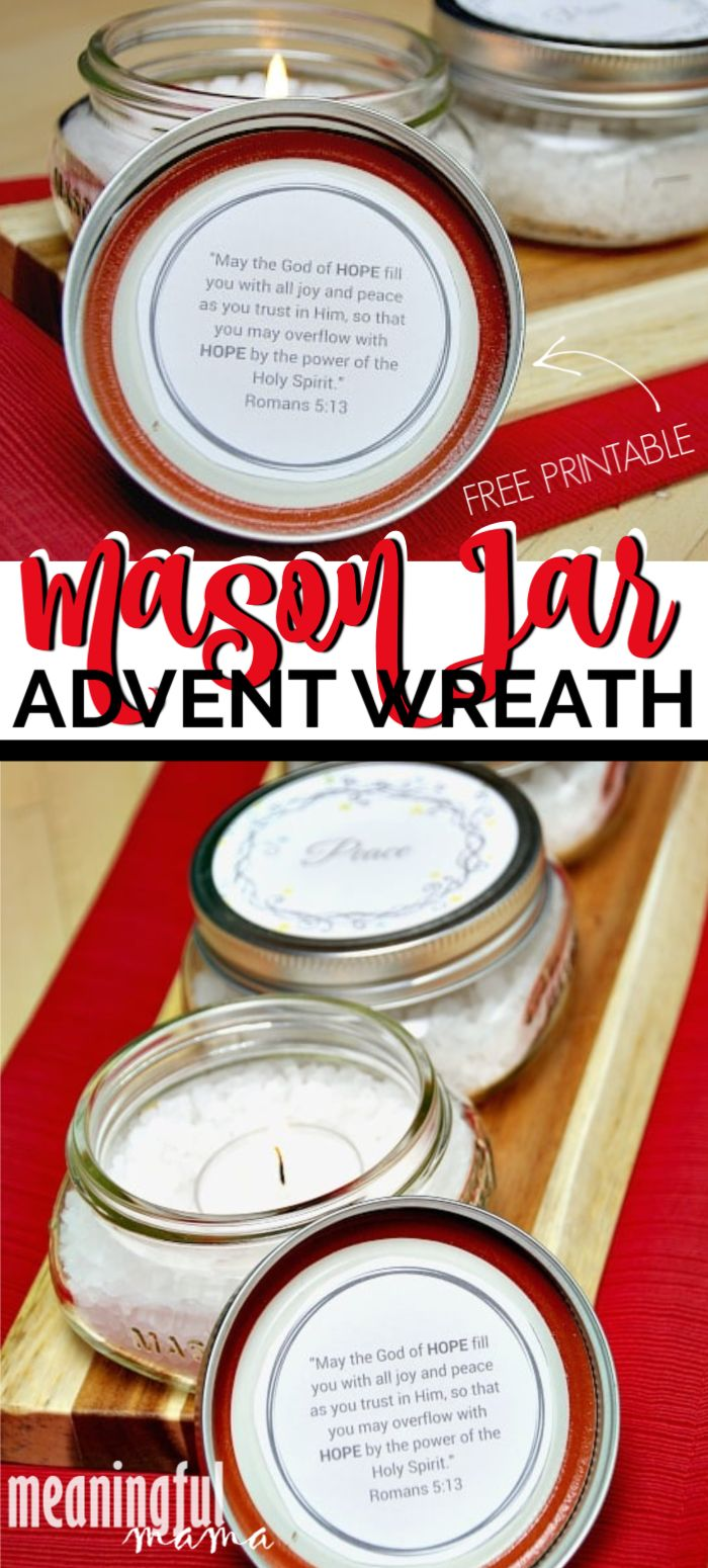 Simple Diy Mason Jar Advent Wreath Mason Jar Diy Advent Wreath Advent Wreath Diy