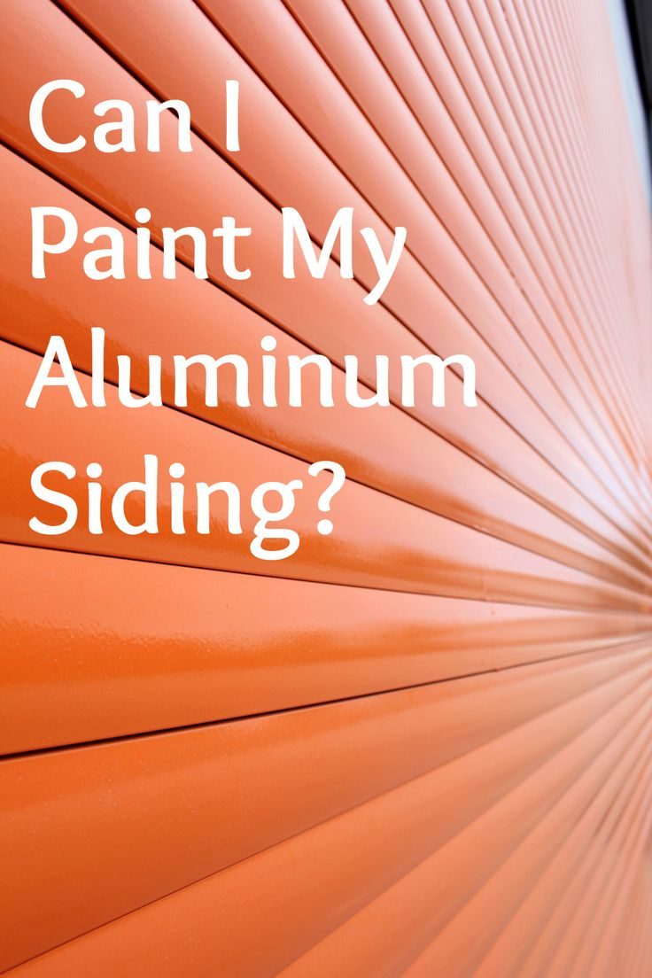 Yes you can paint aluminum siding but you need to do for What do you paint first