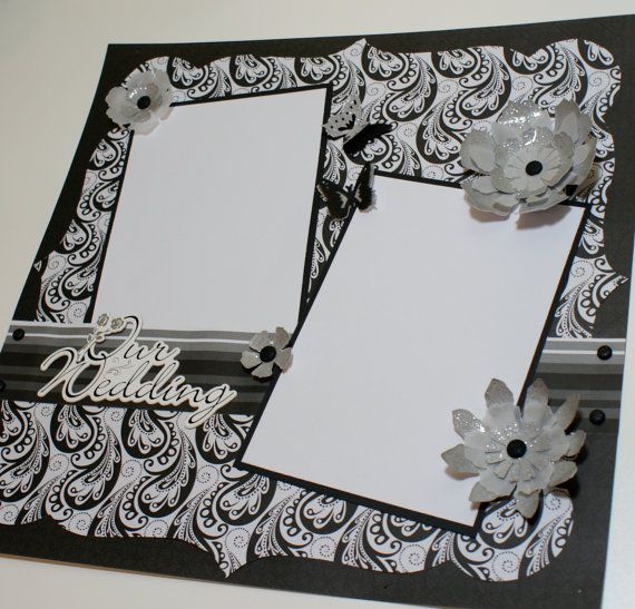 Custom Made Wedding Scrapbook Album  YOU CHOOSE COLORS  Personalized Wedding  Album  Premade Wedding Scrapbook Album  Wedding Gift55 best wedding layouts images on Pinterest   Scrapbooking layouts  . Premade Wedding Scrapbook. Home Design Ideas