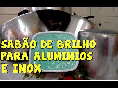 SABÃO DE BRILHO PARA ALUMINIOS E INOX O MELHOR QUE JA FIZ ATÉ HOJE POR MARA CAPR - YouTube  parece ser melhor