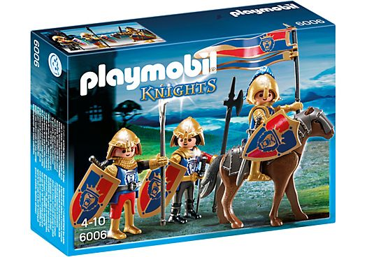 Playmobil - patrulla de los caballeros del león - Knights of the lion - Spähtrupp Löwenritter 6006 NEW