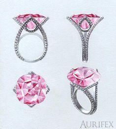 gouache jewellery illustration