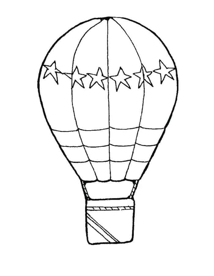 Balloon Coloring Pages In 2020 Hot Air Balloon Drawing Hot Air