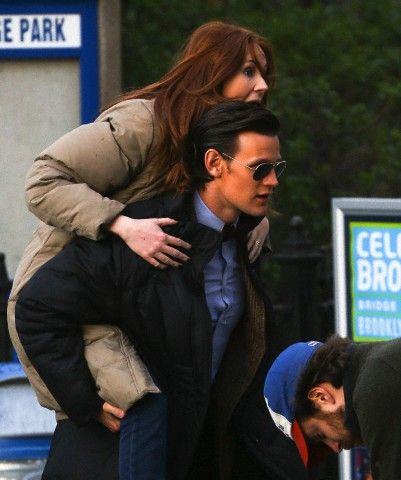 Matt Smith and Karen Gillan, they are so cute together