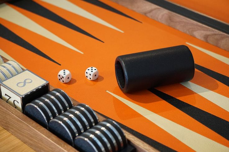 Championship size custom Backgammon by Cruikshank 2014