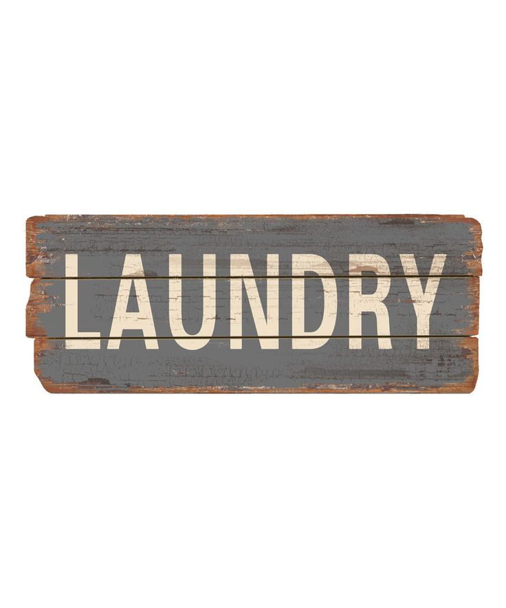 Take a look at this 'Laundry' Wood Sign today!