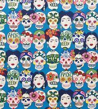 Alexander Henry Gotas de Amor Mexican Skull Calaveras fabric FQ rockabilly