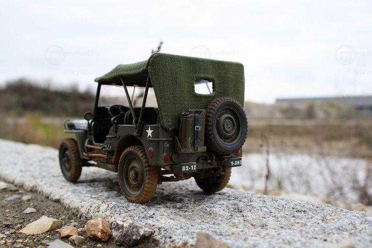 Modellauto Willys MB 1/4 Ton 4x4 von Umbau 1:18 5