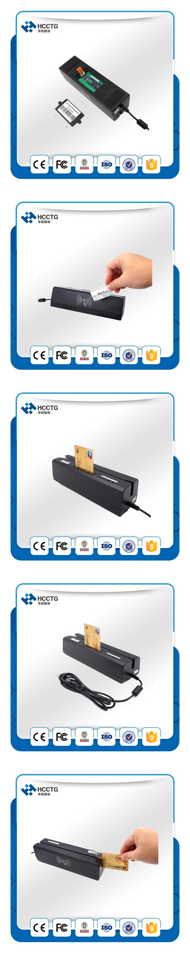 1MM Magnetic Head Credit Card NFC Card Reader Magnetic Stripe Card Reader Writer HCC80  With 10pcs Magnetic Cards